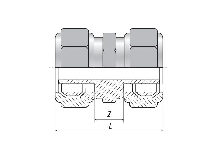 Муфта редукционная 25 (3.5) x 20 (2.8)