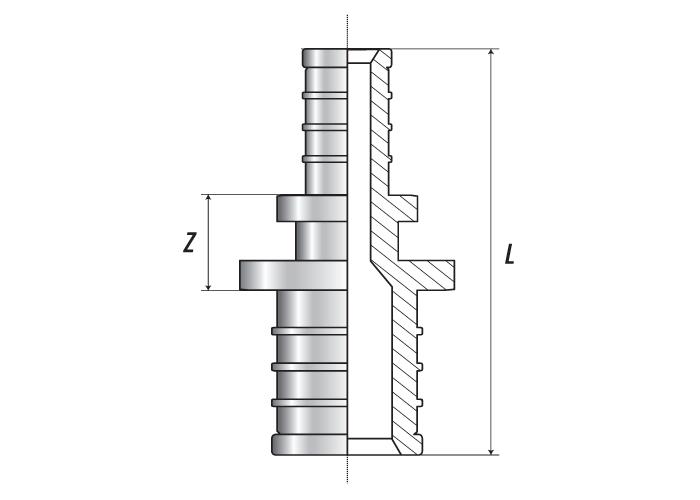 ПРЕСС Муфта редукционная 25 (3.2) x 16 (2.2)