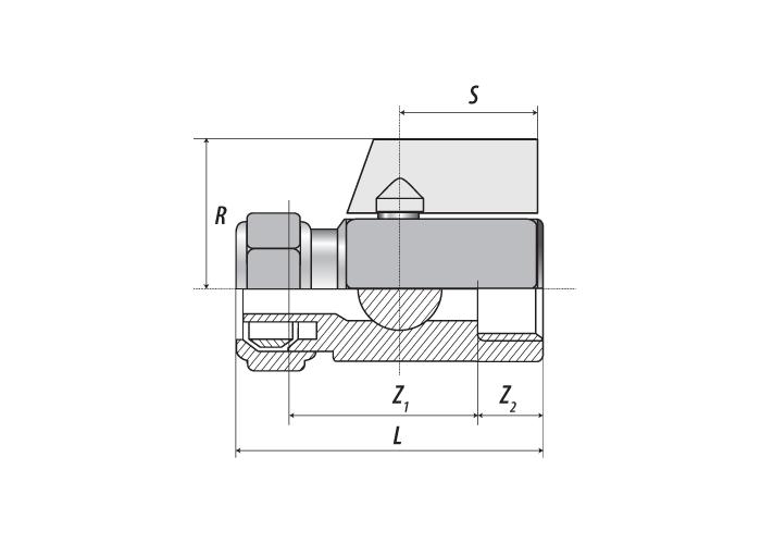 Мини-кран В.Р. 1/2″ x 16 (1.8)