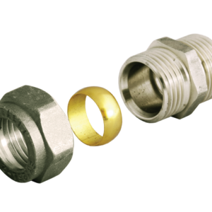Фитинг уплотнительный для медной трубки Ду15-G1/2″ (с обжимным кольцом) универсальный