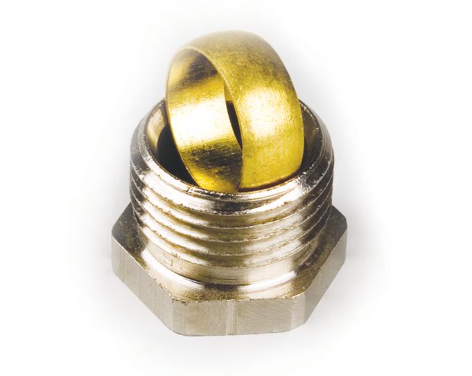 Фитинг уплотнительный для медной трубки Ду15-G1/2″ (с обжимным кольцом) для вентилей Eagle