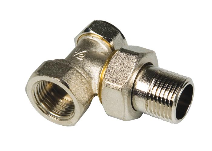 Вентиль настроечный угловой радиаторный 1/2″ MF