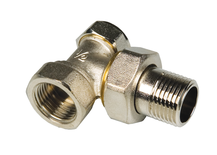 Вентиль настроечный угловой радиаторный 3/4″ MF