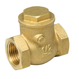 Клапан обратный горизонтальный с проверочным отверстием 1 1/4″ FF