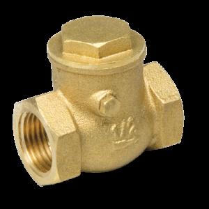 Клапан обратный горизонтальный с проверочным отверстием 1 1/2″ FF