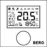 Беспроводной цифровой программируемый термостат с дисплеем и входом для датчика пола BT50-iRF-FS.