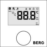 Цифровой Термостат, с подсвечиваемым дисплеем, не программируемый BT30L-230