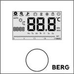 Цифровой Термостат, с подсвечиваемым дисплеем, программируемый, с входом для датчика пола BT50L-FS-230