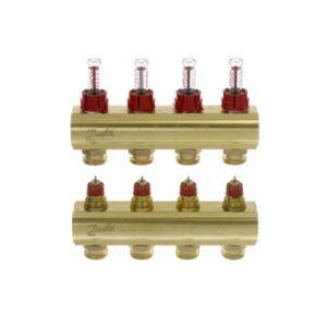 Коллекторы FHF-4F с расходомерами для 4 контуров