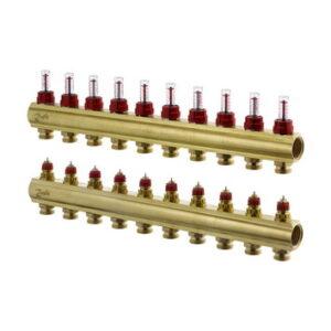 Коллекторы FHF-10F с расходомерами для 10 контуров