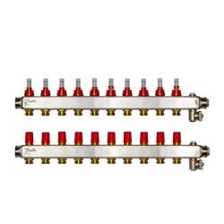 Коллекторы SSM-10F с расходомерами, 10 контуров
